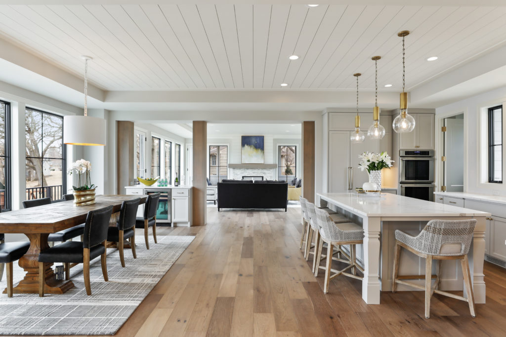 Home buyers want open floor plans. Edina homes for sale.