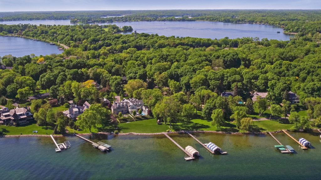 Lake homes in Minnetonka Beach, Minnesota.