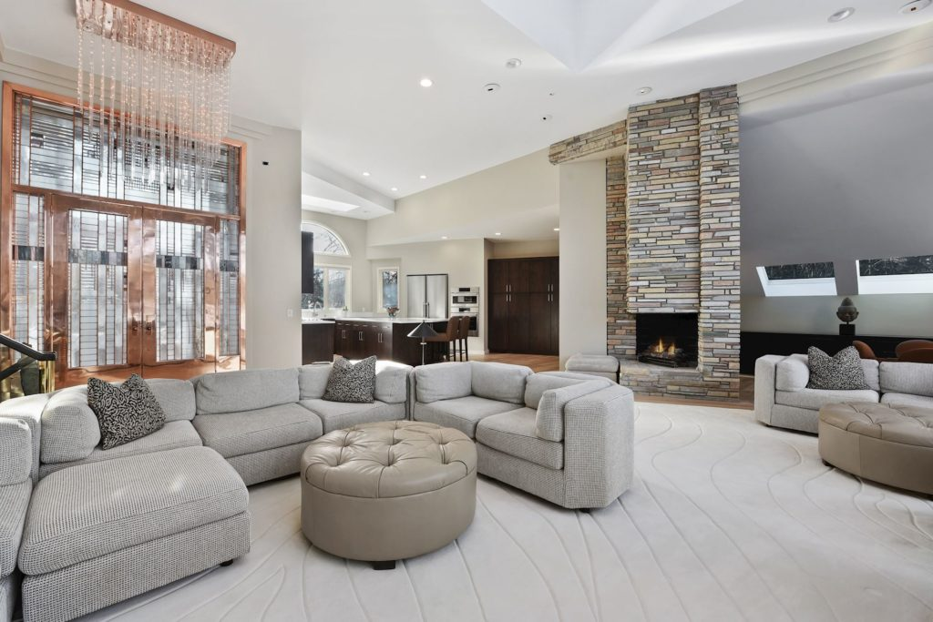 Living room at 6800 Cheyenne Trail home for sale in Edina