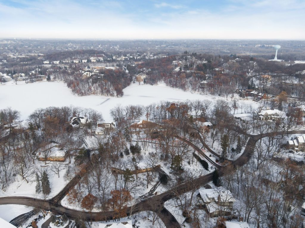 6704 indian hills road aerial view