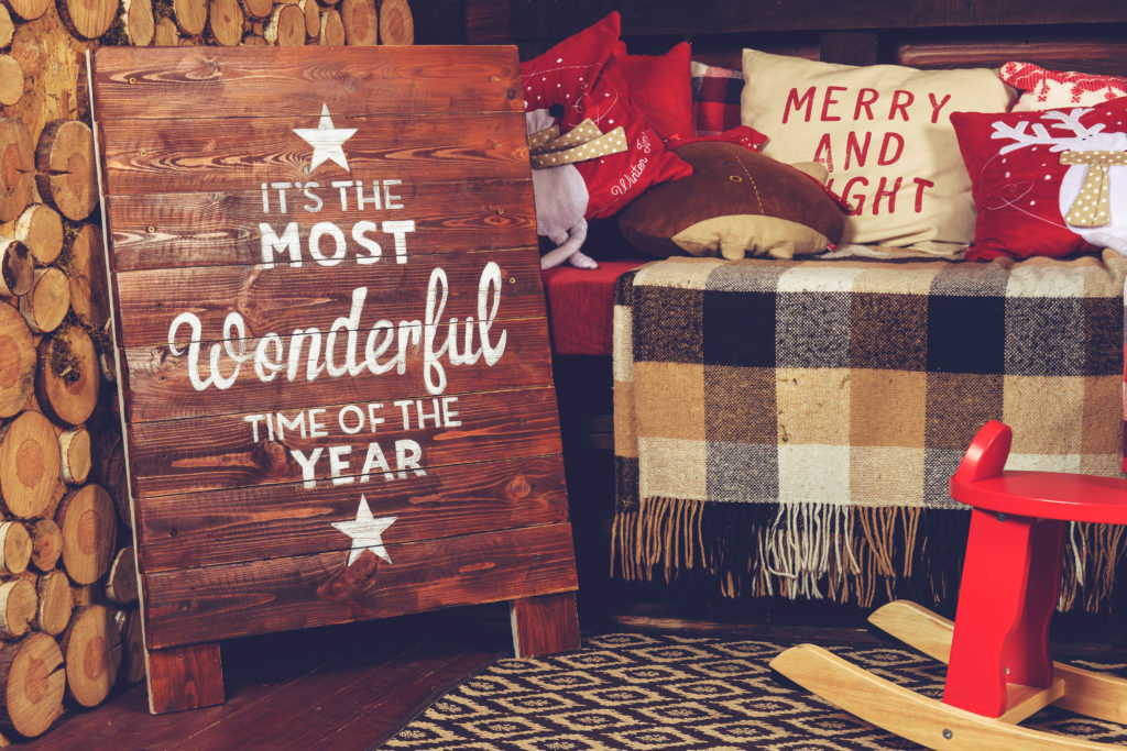 Wooden Christmas sign is the perfect christmas home decor item